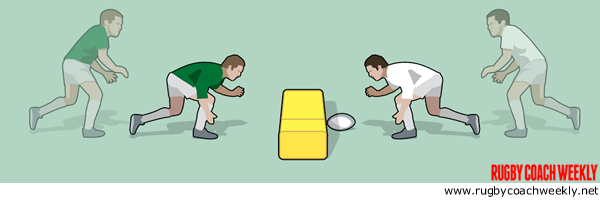 Perfect contact body shapes with slow motion tackling