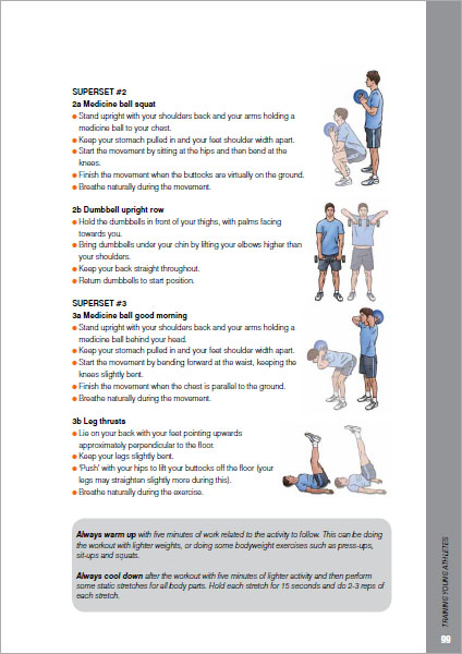 Training Young Athletes inside example 3